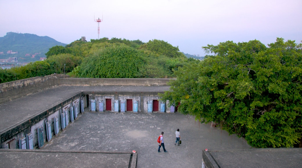 Cihou Fort showing building ruins and heritage elements