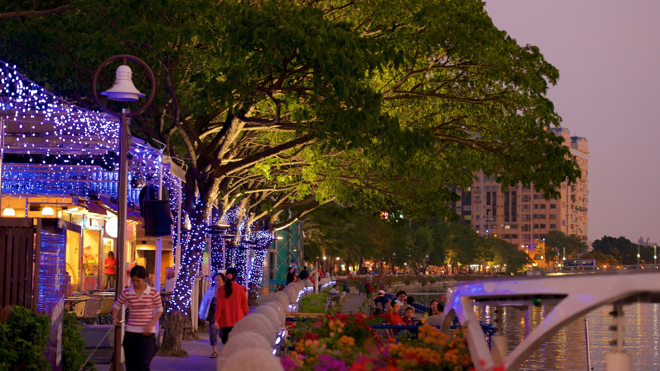 Walk along the banks of Kaohsiung's cultural core, where you will find a night market, a harbor and scenic parks.