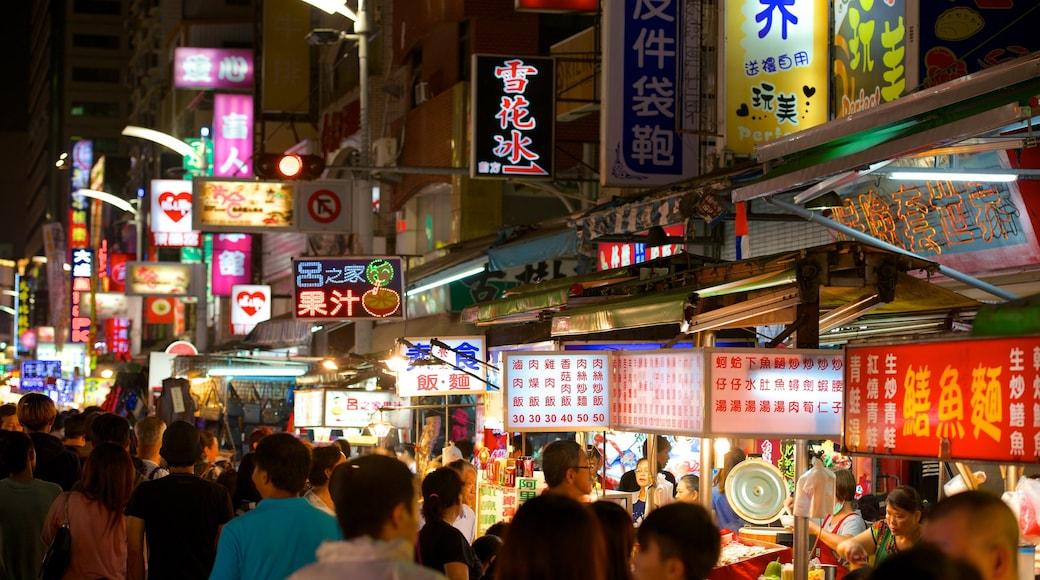 六合夜市 其中包括 市場, 夜景 和 城市