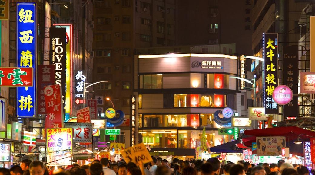 六合夜市 呈现出 城市, 市場 和 夜景
