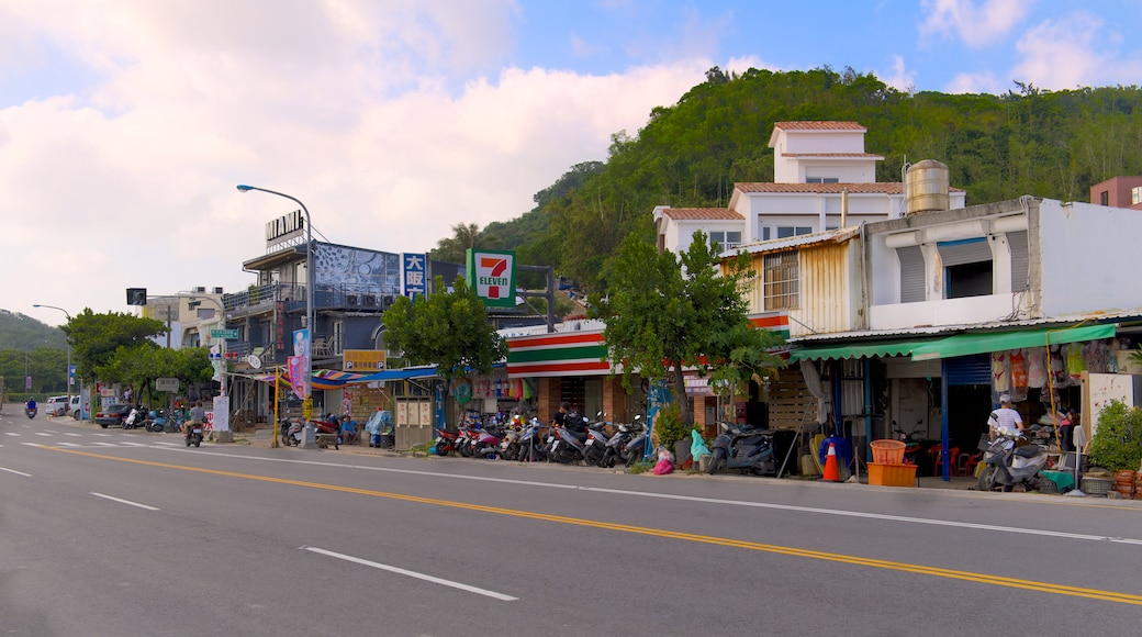 Nan Wan Beach featuring a city