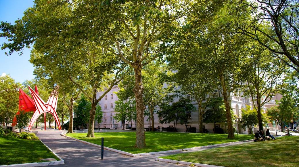 Hartford featuring a garden and outdoor art