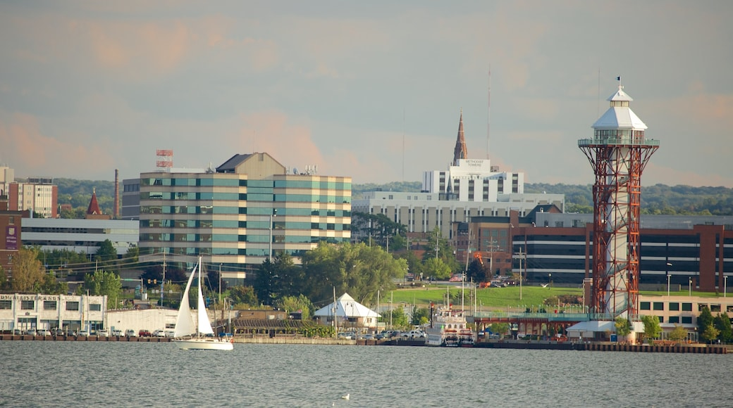 Erie featuring a lake or waterhole and a city