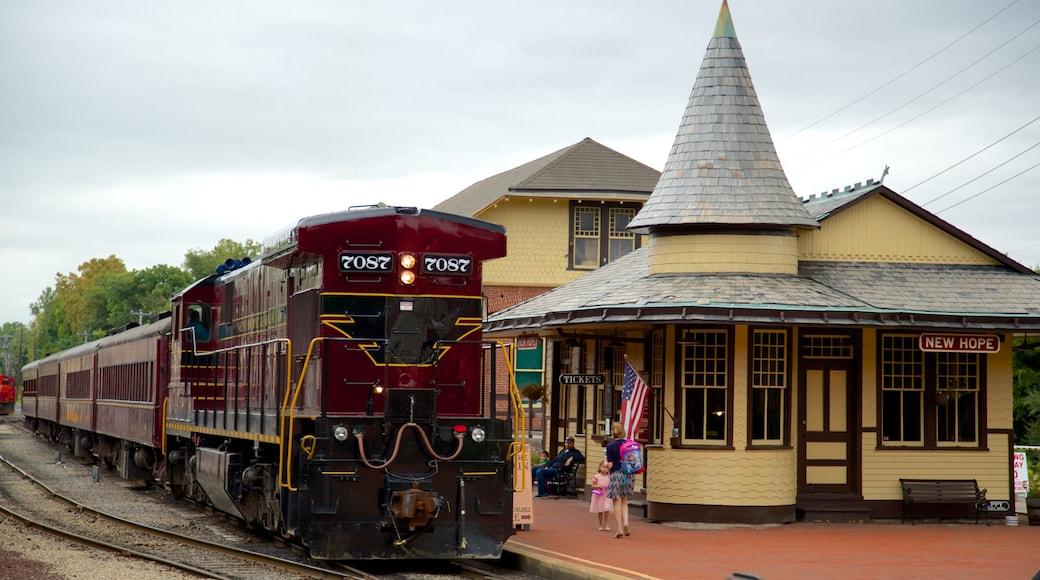 New Hope caracterizando itens de ferrovia