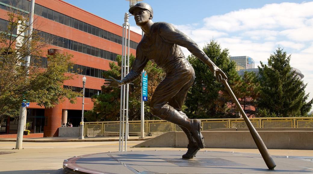 PNC Park featuring a statue or sculpture