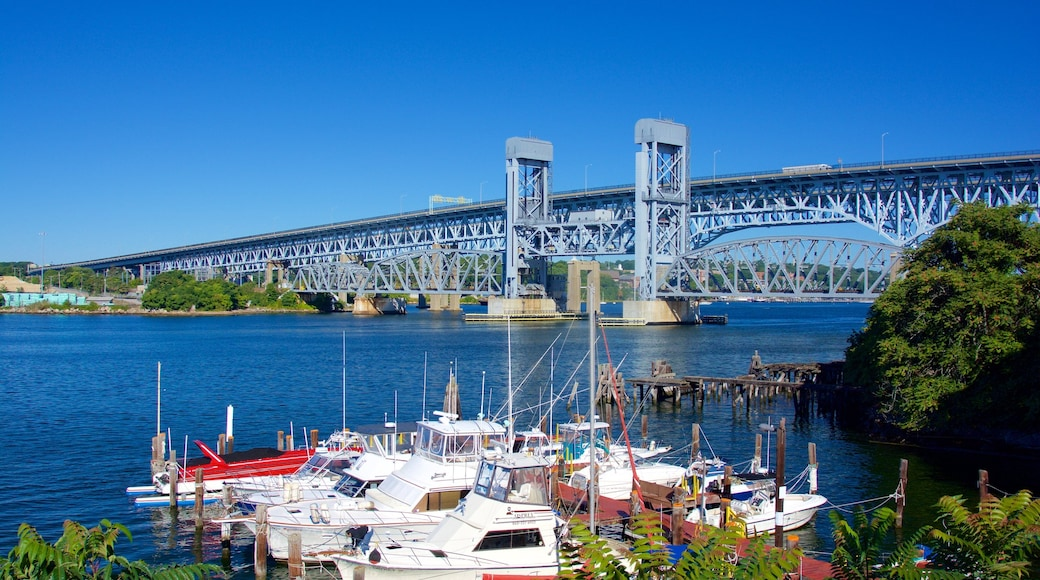 Groton featuring a bridge and a river or creek