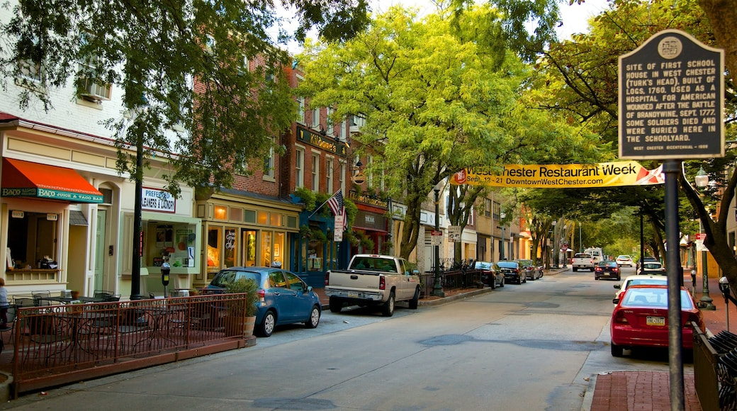 West Chester featuring a small town or village and cafe lifestyle