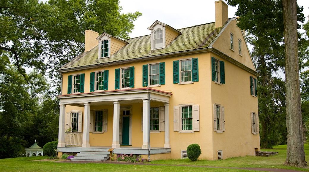 Washington Crossing mostrando uma casa e arquitetura de patrimônio
