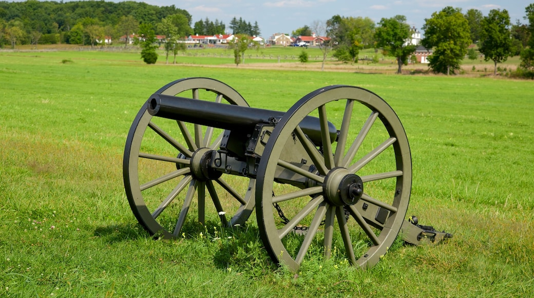 Gettysburg National Military Park featuring a garden and heritage elements