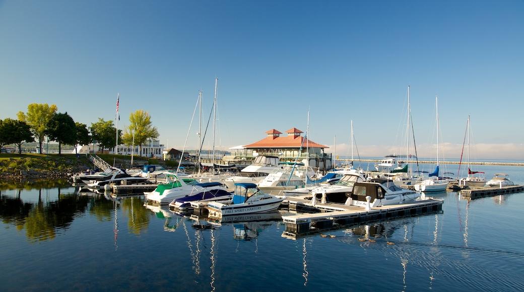Waterfront Park caracterizando uma marina