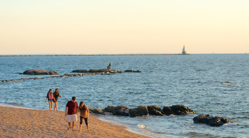 Lighthouse Point Park which includes a sandy beach