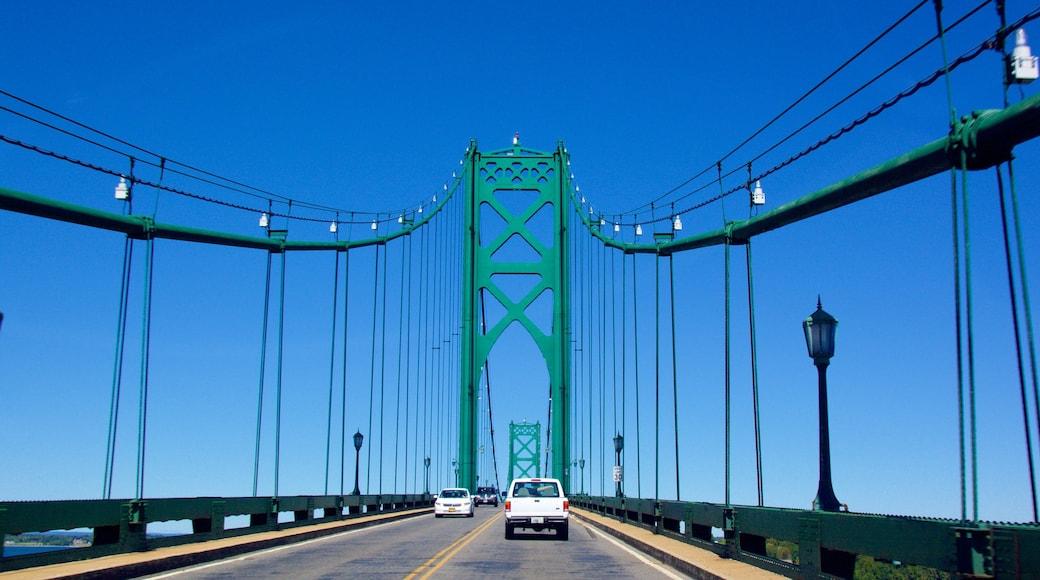 Newport Bridge showing a bridge