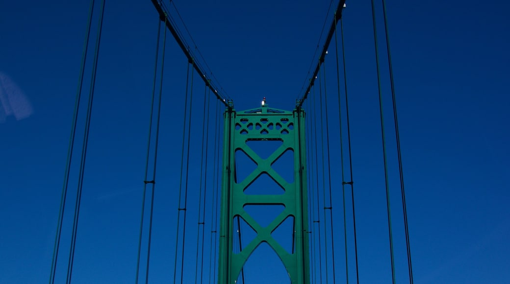 Newport Bridge showing a bridge and skyline