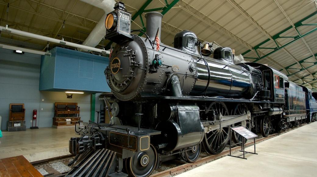 Museu ferroviário da Pensilvânia caracterizando itens de ferrovia