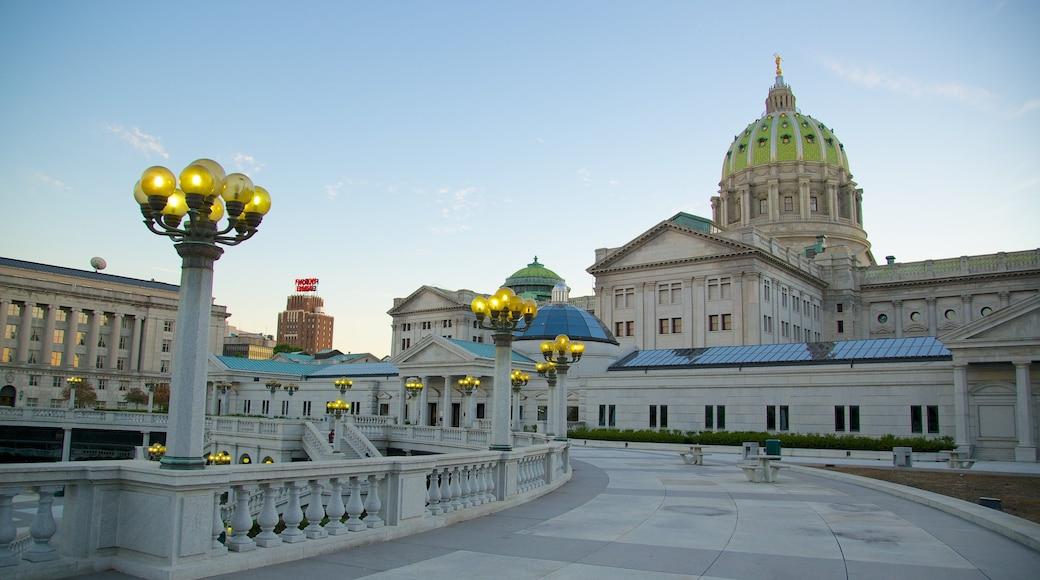 Capitólio Estadual da Pensilvânia caracterizando arquitetura de patrimônio