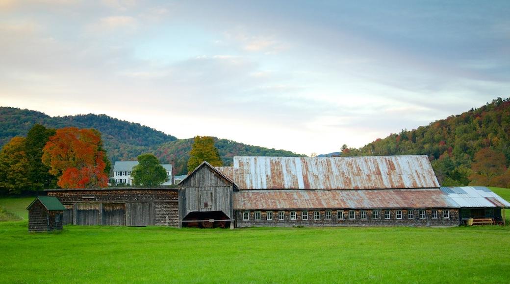 Central Vermont featuring farmland