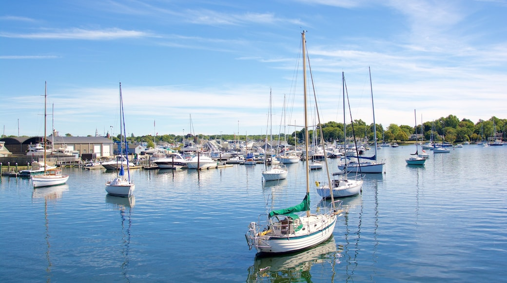 Rhode Island which includes boating and a marina