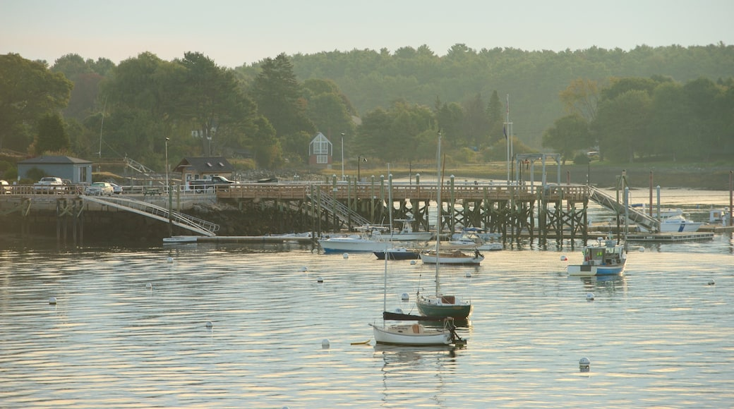 Fort McClary State Park featuring boating, a bridge and a marina