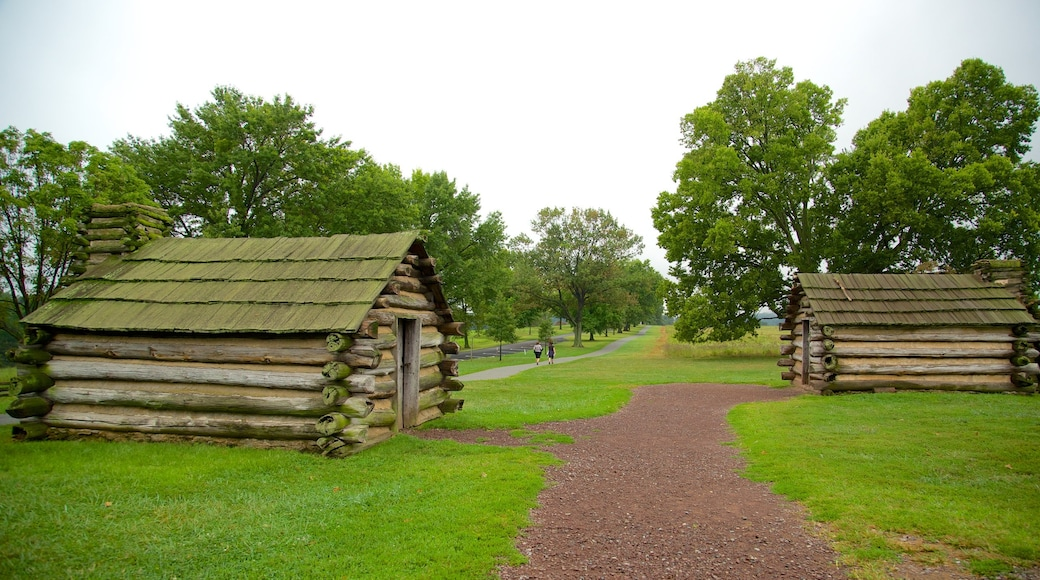 Valley Forge National Historic Park featuring a garden and heritage elements