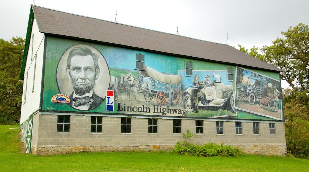 Southwest Pennsylvania showing art and signage