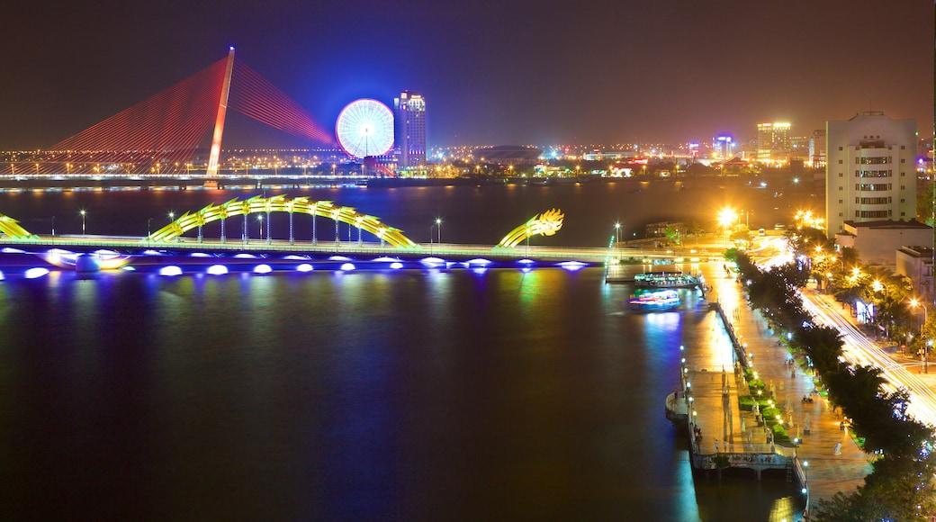 Han River showing a bridge and night scenes