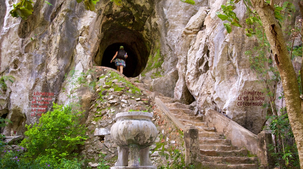 Marble Mountains which includes caves
