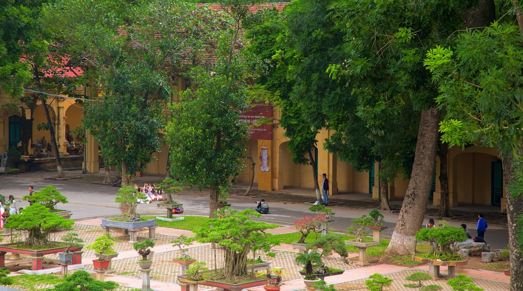 Hanoi Citadel featuring a temple or place of worship and a park