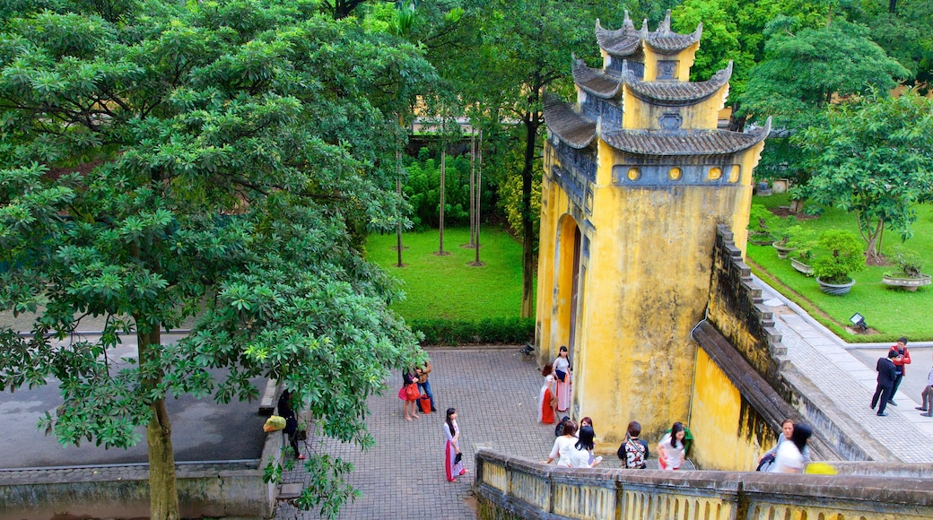 Hanoi Citadel which includes a temple or place of worship