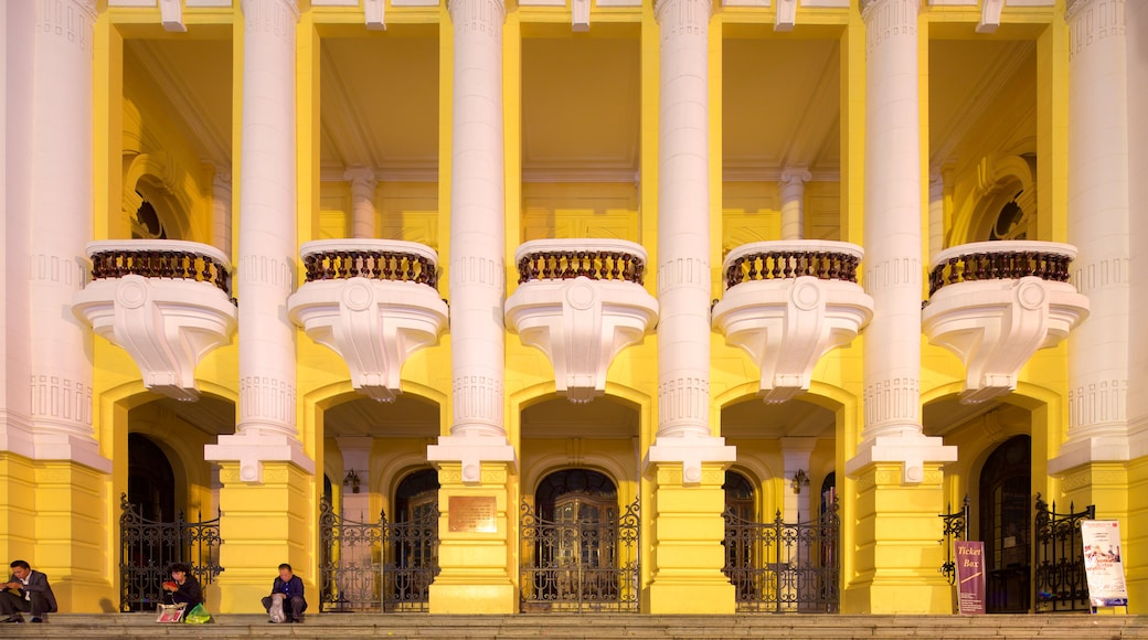 Hanoi Opera House which includes heritage architecture
