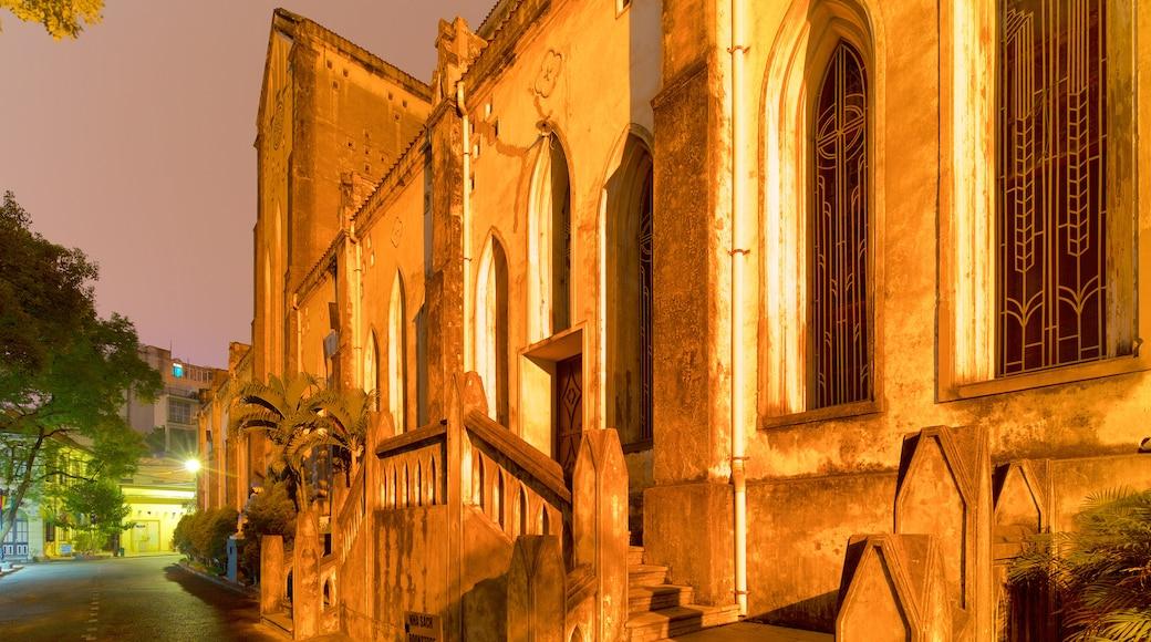 聖若瑟主教座堂 其中包括 夜景 和 歷史建築
