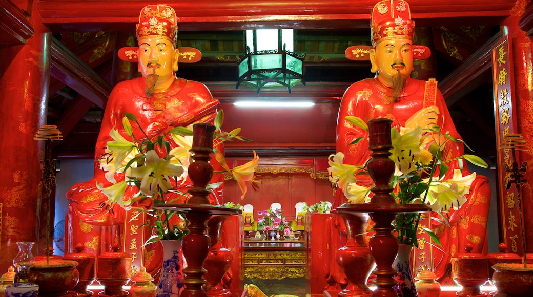 Temple of Literature showing religious aspects, a temple or place of worship and interior views