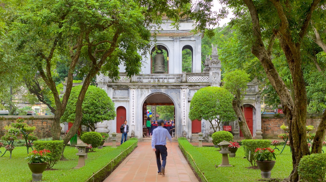 Temple of Literature featuring a garden and a temple or place of worship