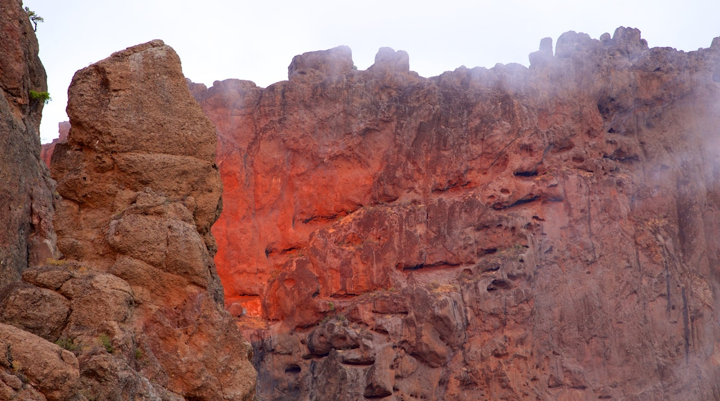 Roque Nublo showing a gorge or canyon