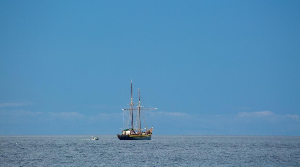 Playa de Jandia che include vista della costa e giro in barca
