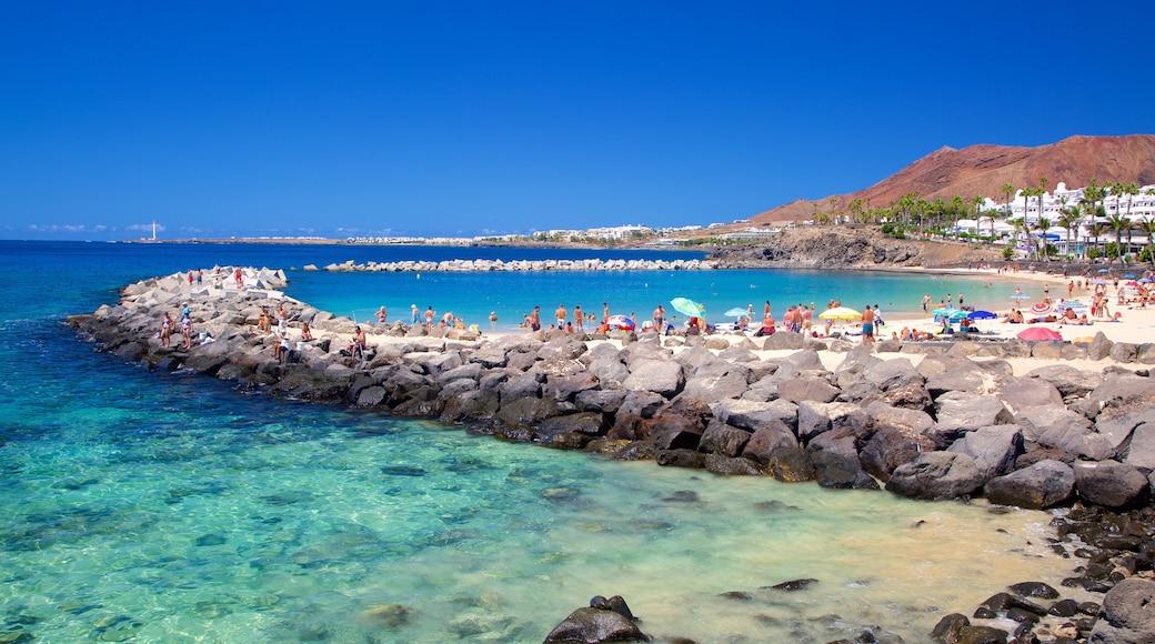 Playa Blanca mit einem allgemeine Küstenansicht und Sandstrand
