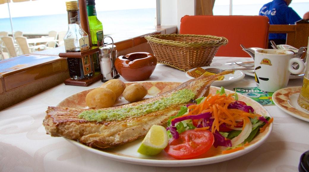 Morro Jable welches beinhaltet Speisen