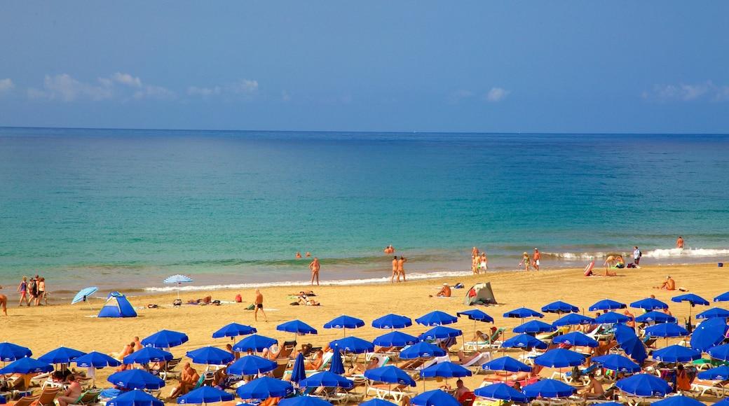 Meloneras das einen allgemeine Küstenansicht und Strand