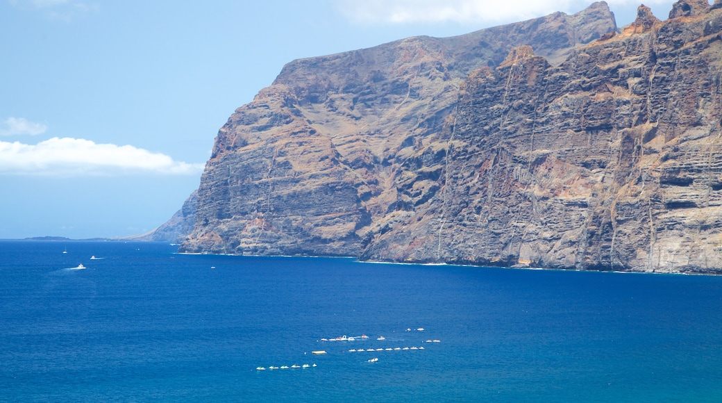 Los Gigantes which includes boating and rocky coastline