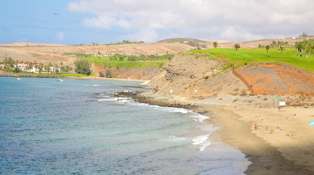 Strand von Meloneras welches beinhaltet allgemeine Küstenansicht und Strand