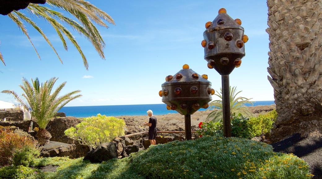 Jameos del Agua das einen Garten