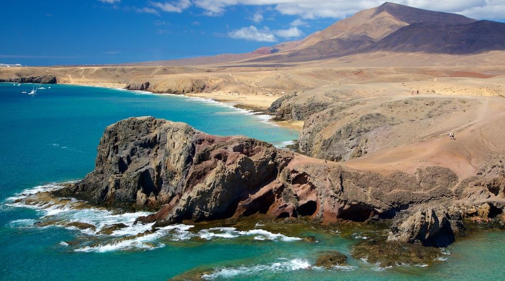 Plage de Papagayo montrant plage, vues littorales et côte escarpée