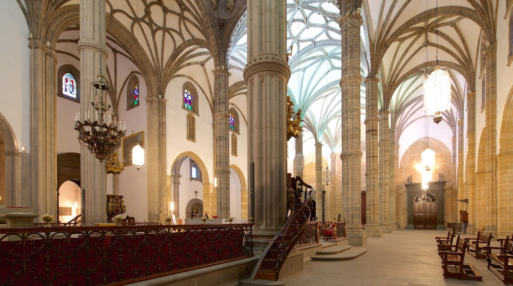 Cathedral of Santa Ana showing a church or cathedral, interior views and religious elements