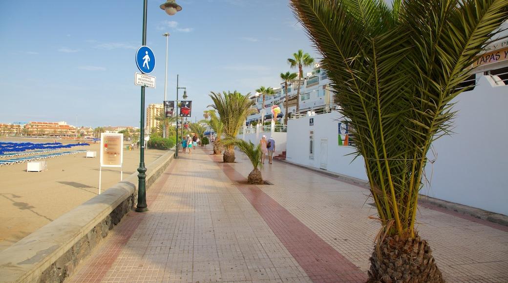 Plage de Las Vistas qui includes ville côtière