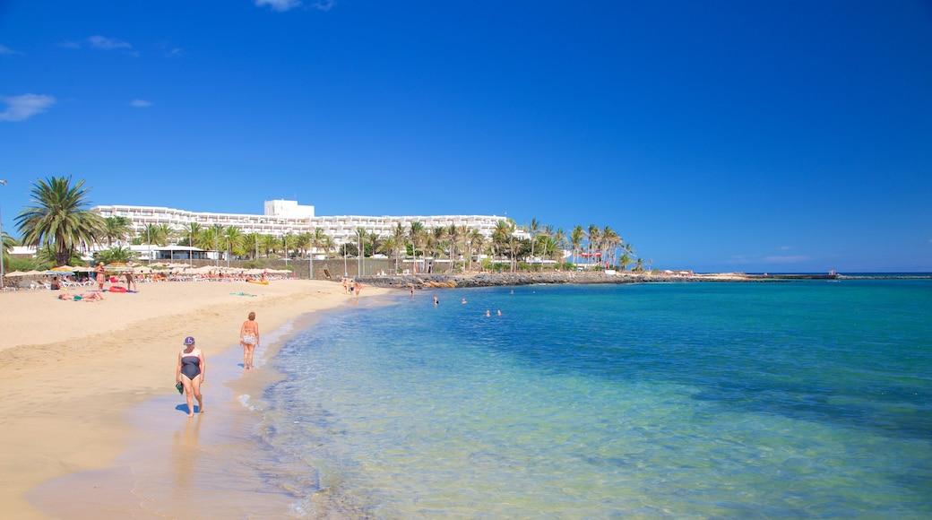 Plage de Las Cucharas mettant en vedette plage et vues littorales