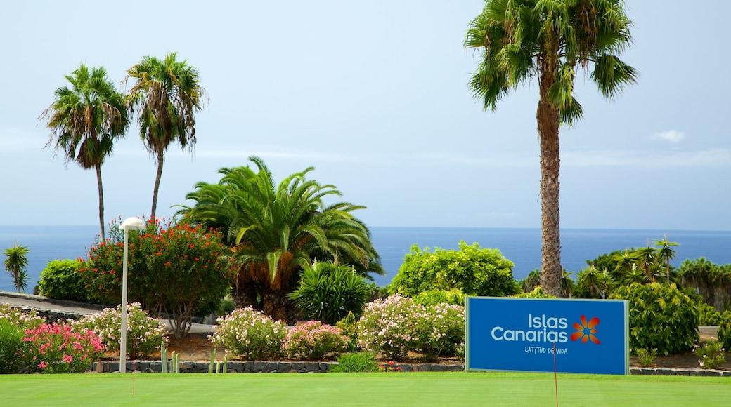 Golf Costa Adeje som viser skiltning