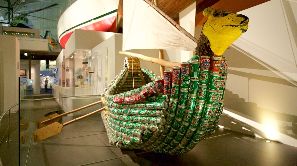 Australia National Maritime Museum showing interior views and art