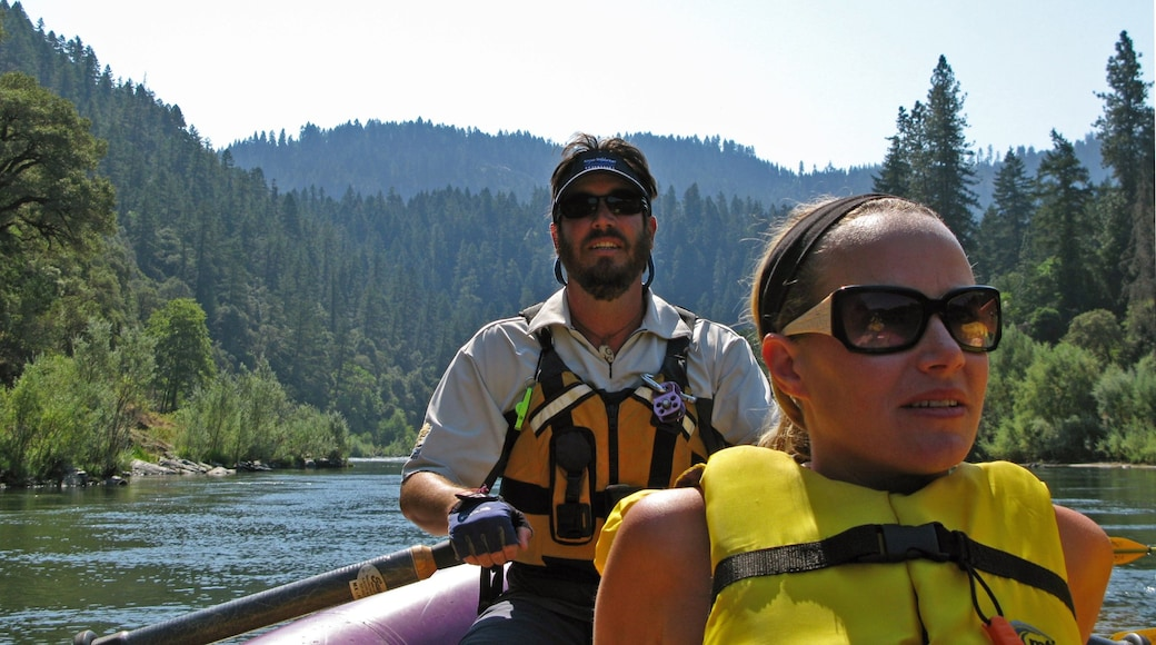 Rogue River featuring forest scenes, rafting and a river or creek