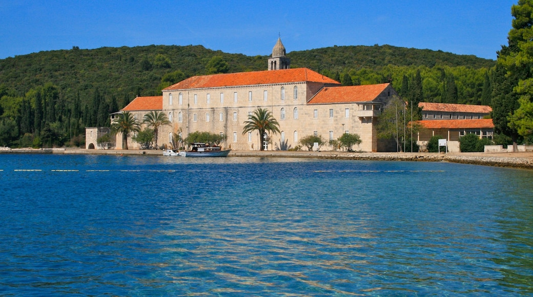 Croatia showing boating, a house and heritage architecture
