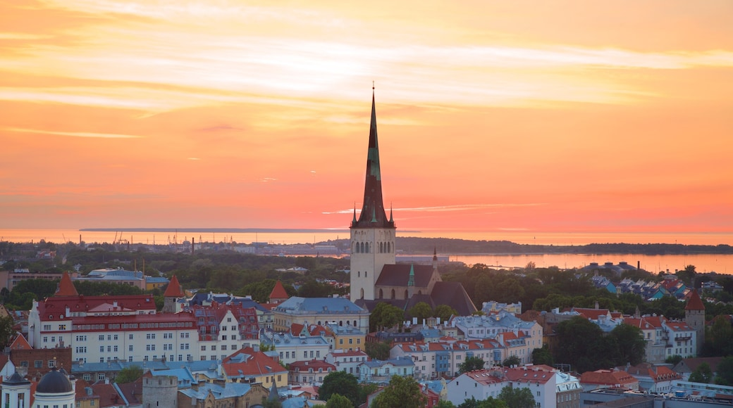 Tallinn which includes a sunset and a city