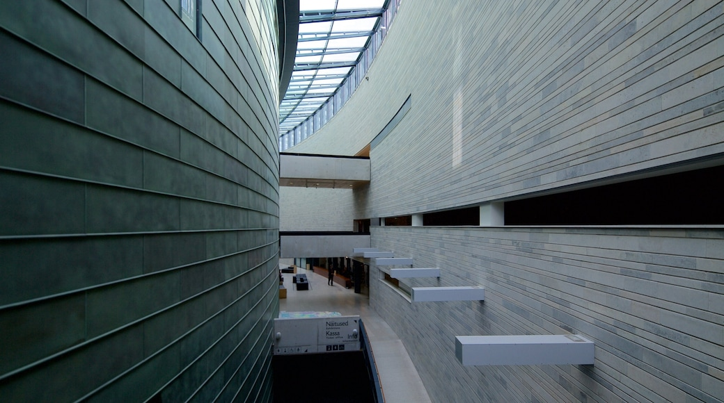 Estonian Art Museum featuring modern architecture and interior views